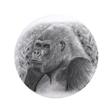 "Posing Gorillas 3.5"" Button (100 pack)"