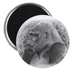 "Posing Gorillas 2.25"" Magnet (100 pack)"
