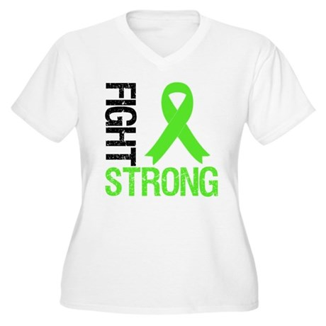 Lymphoma Fight Strong Women's Plus Size V-Neck T-S