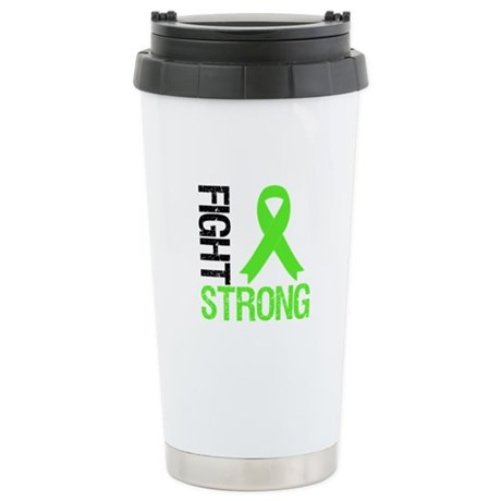 Lymphoma Fight Strong Ceramic Travel Mug