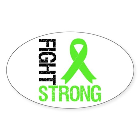 Lymphoma Fight Strong Oval Sticker (10 pk)