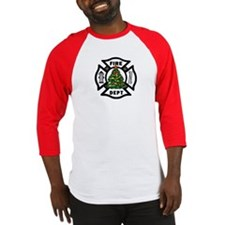 Fire Dept Christmas Baseball Jersey