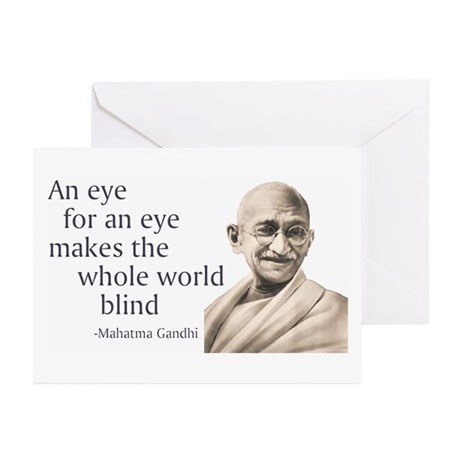 """An eye for an eye makes the Greeting Cards (Pack"