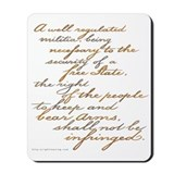 2nd Amendment Script Mousepad