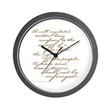 2nd Amendment Script Wall Clock