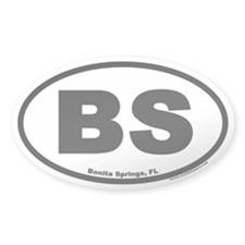 Bonita Springs BS Euro Oval Decal