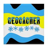 Snow Capped Geocacher Tile Coaster