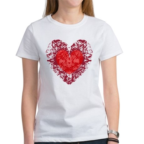 Red Grunge Heart Women's T-Shirt