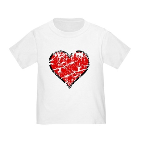 Red Grunge Heart Toddler T-Shirt