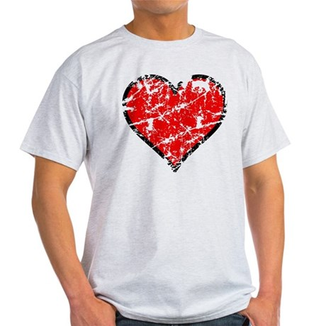 Red Grunge Heart Light T-Shirt