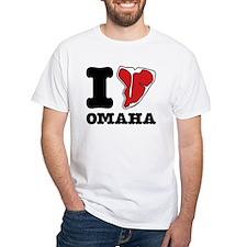 I Steak Omaha T-Shirt (White)