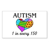Autism (1 in every 150) Rectangle Decal