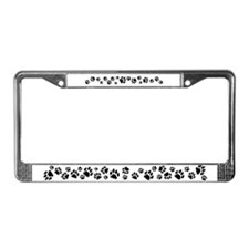 Cat Tracks License Plate Frame