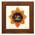 South Africa Police Framed Tile