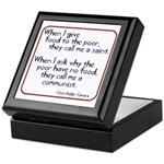 Dom Helder Camara quote Keepsake Box