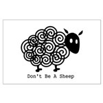 Don't Be A Sheep Large Poster