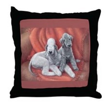 Bedlington Puppy Love Throw Pillow
