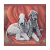 Bedlington Puppy Love Tile Coaster