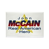 John McCain- American Hero Rectangle Magnet