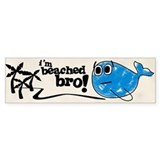 Beached Bro Bumper Car Sticker