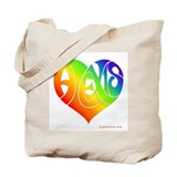 Alexis (Rainbow Heart) Tote Bag