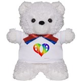 Ava (Rainbow Heart) Teddy Bear