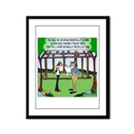 Environmentally Sound House Framed Panel Print