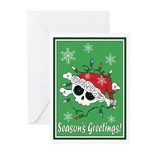 Santa Skull Greeting Cards (Pk of 10)