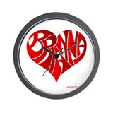 Brianna (Red Heart) Wall Clock