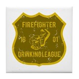 Firefighter Drinking League Tile Coaster