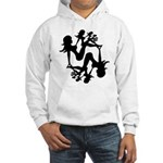 Mudflap Girl Fractal Hooded Sweatshirt