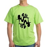 Mudflap Girl Fractal Green T-Shirt