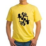 Mudflap Girl Fractal Yellow T-Shirt