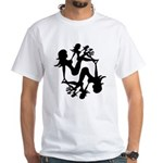 Mudflap Girl Fractal White T-Shirt