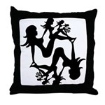 Mudflap Girl Fractal Throw Pillow