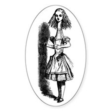 Alice In Wonderland Oval Sticker (10 pk)