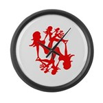 Mudflap Girl Fractal Large Wall Clock