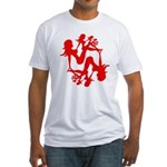 Mudflap Girl Fractal Fitted T-Shirt