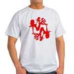 Mudflap Girl Fractal Light T-Shirt
