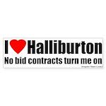 No Bid Halliburton Bumper Sticker
