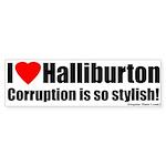 I Love Halliburton Corrupt Bumpersticker