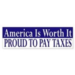 Proud to Pay Taxes (bumper sticker)