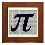 Pi to 3500 decimal places Framed Tile