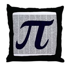 Pi to 3500 decimal places Throw Pillow