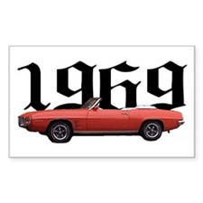 1969 Pontiac Firebird Rectangle Decal