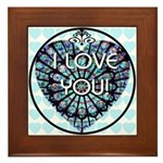 I LOVE YOU! Framed Tile
