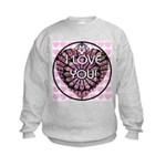 I LOVE YOU! Kids Sweatshirt