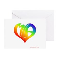MIa (Rainbow Heart) Greeting Card