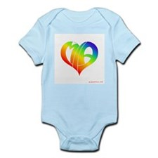 MIa (Rainbow Heart) Infant Bodysuit