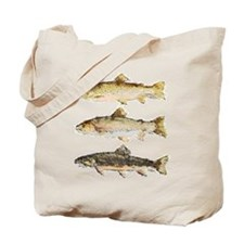 Trout Watercolor Tote Bag
